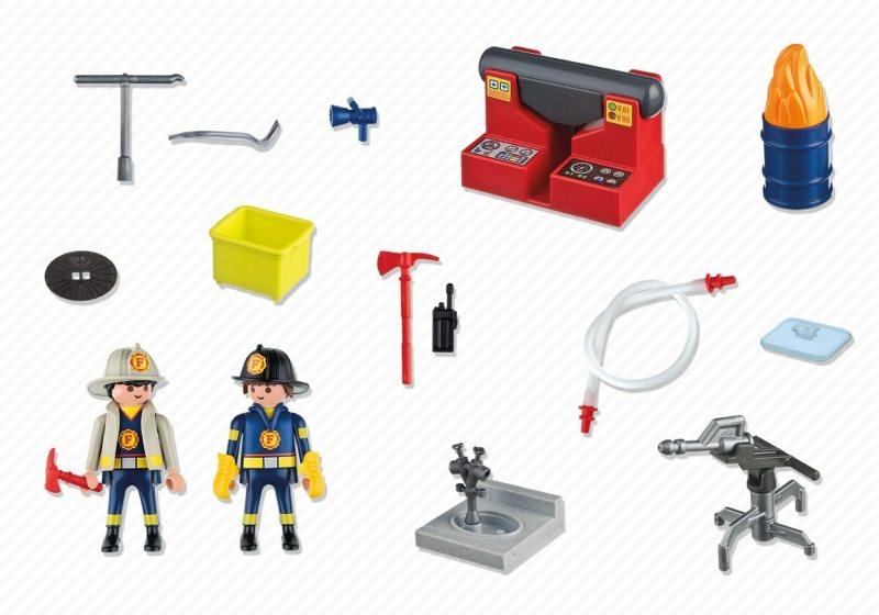 Playmobil 5973 - Carrying Case Firemen - Back
