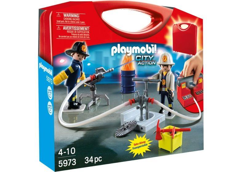 Playmobil 5973 - Carrying Case Firemen - Box