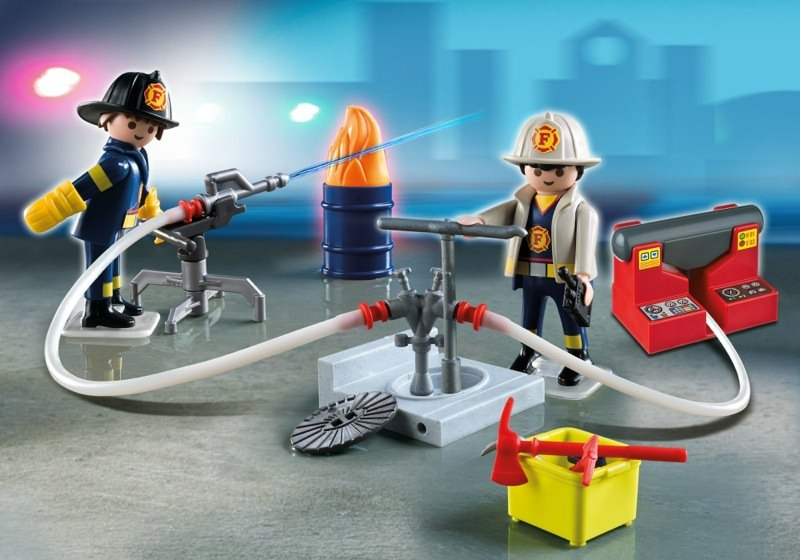 Playmobil - 5973 - Carrying Case Firemen