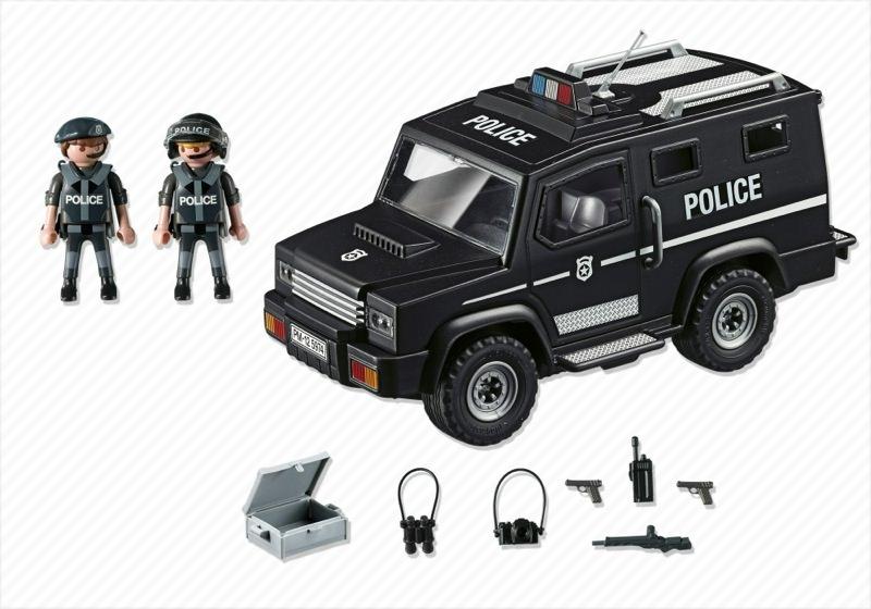 Playmobil 5974 - Tactical Unit Car - Back