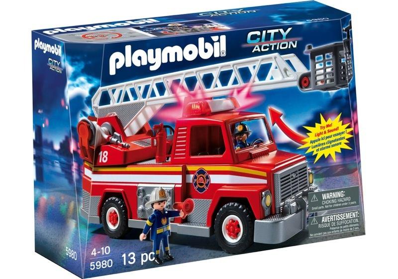 Playmobil 5980-usa - Rescue Ladder Unit - Box