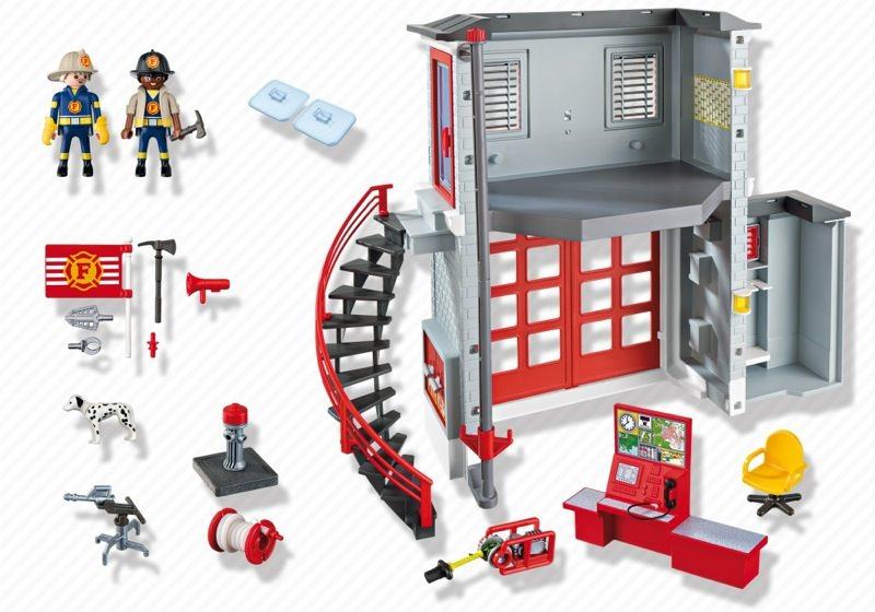 Playmobil 5981-usa - Fire Station - Zurück