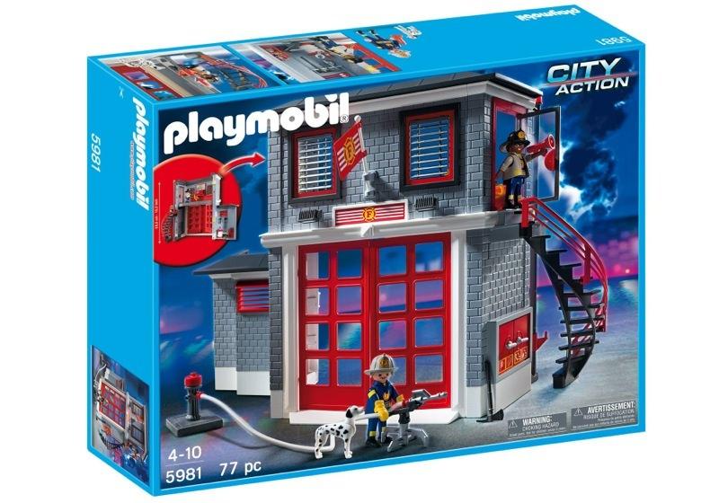 Playmobil 5981-usa - Fire Station - Box