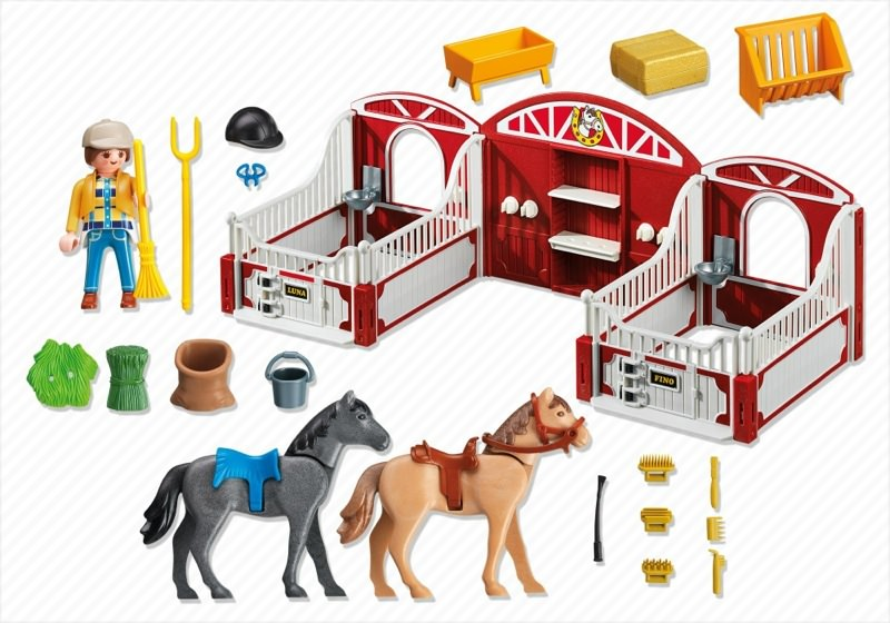 Playmobil 5983-usa - Country Pony Stable - Back