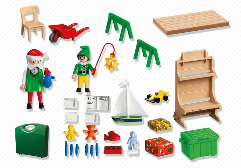 Playmobil 5987 - Santa's Workshop - Back