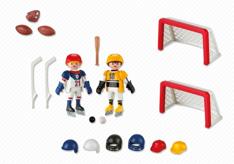 Playmobil 5993 - Carrying Case Sports - Back