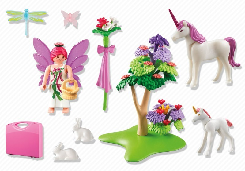 Playmobil 5995 - Carrying Case Fairy and Unicorns - Back