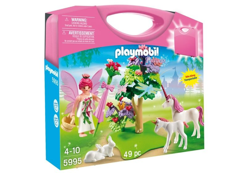 Playmobil 5995 - Carrying Case Fairy and Unicorns - Box