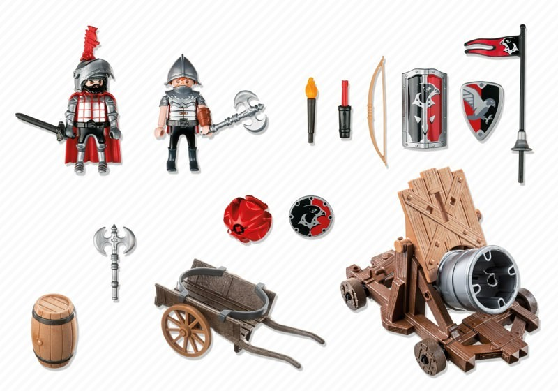 Playmobil 6038 - Hawk Knights` Battle Cannon - Back