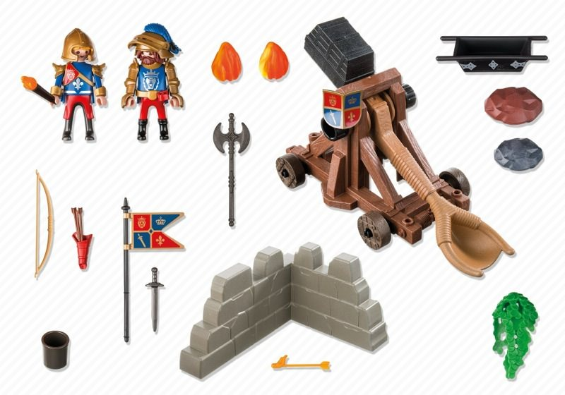 Playmobil 6039 - Royal Lion Knights` Catapult - Back