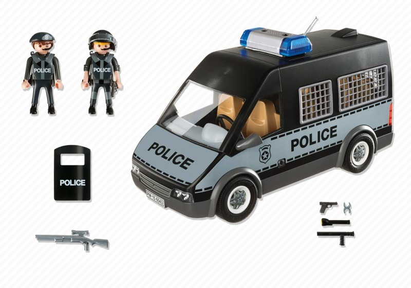 Playmobil 6043 - Police van with lights and sound - Back