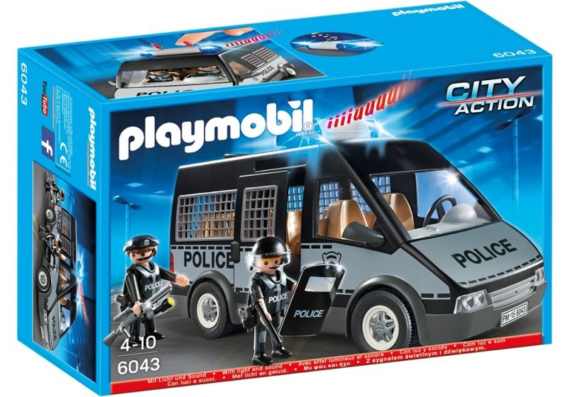 playmobil set 6043 police van with lights and sound. Black Bedroom Furniture Sets. Home Design Ideas
