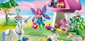 Playmobil - 6055 - Fairies with Toadstool House