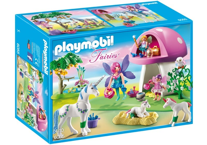 Playmobil 6055 - Fairies with Toadstool House - Box