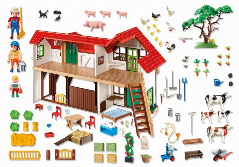 playmobil set 6120 farm klickypedia. Black Bedroom Furniture Sets. Home Design Ideas