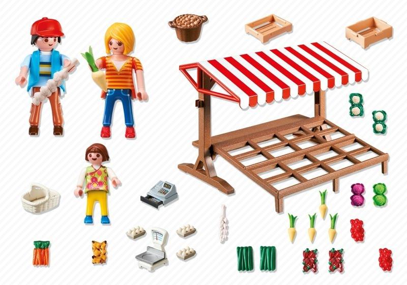 Playmobil 6121 - Farmer's Market - Back