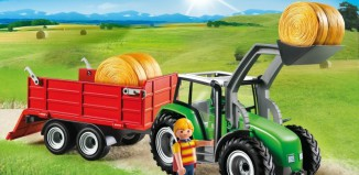 Playmobil - 6130 - Farm tractor & trailer