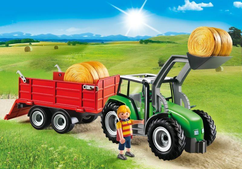 playmobil set 6130 gro er traktor mit anh nger klickypedia. Black Bedroom Furniture Sets. Home Design Ideas