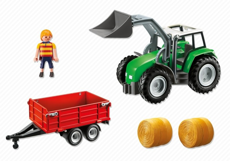 Playmobil 6130 - Farm tractor & trailer - Back