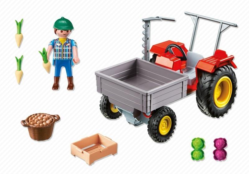 Playmobil 6131 - Ladetraktor - Back