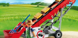 Playmobil - 6132 - Hayloft conveyor & farmer