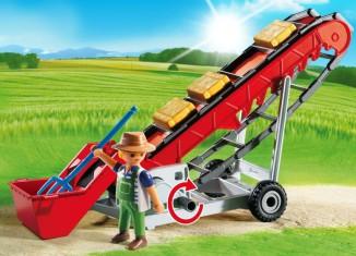 Playmobil - 6132 - Hayloft conveyor & farmer