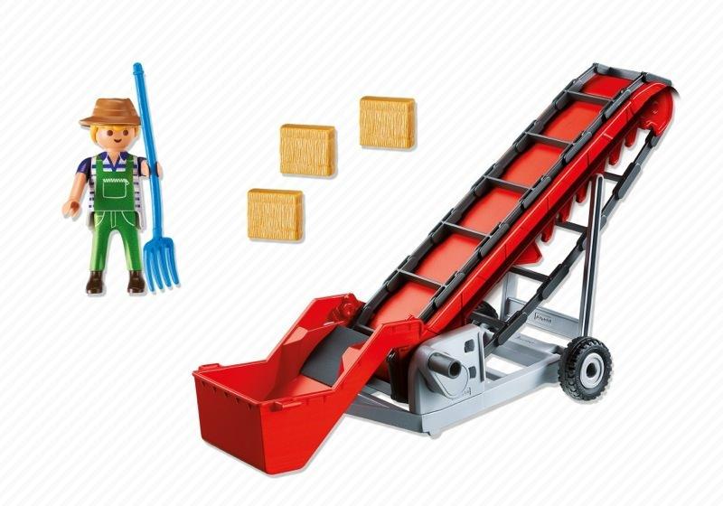 Playmobil 6132 - Hayloft conveyor & farmer - Back