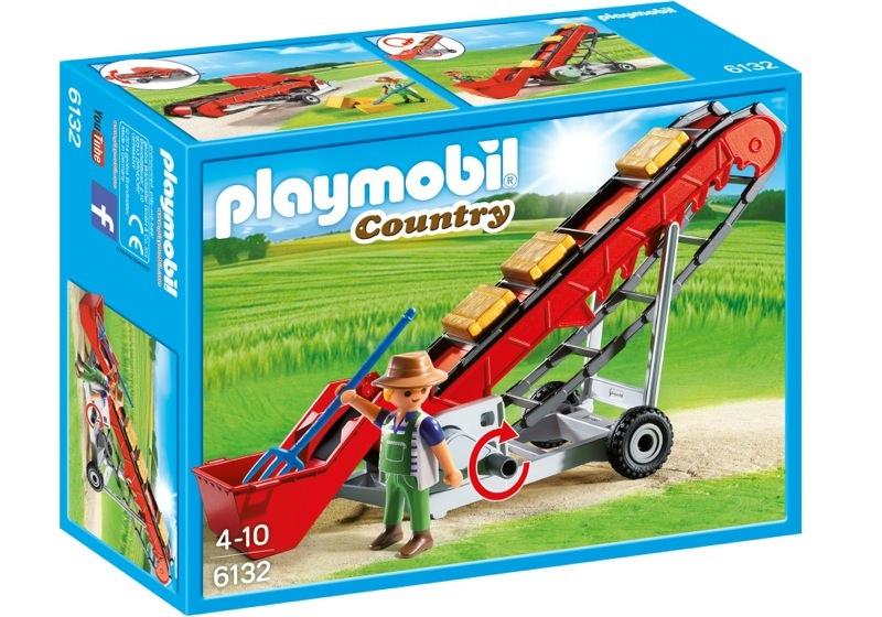 Playmobil 6132 - Hayloft conveyor & farmer - Box
