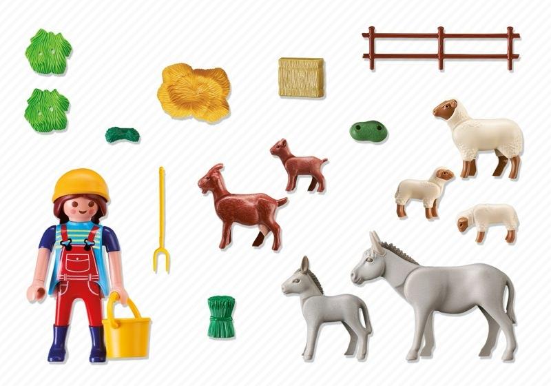 Playmobil 6133 - Farm Animal Pen - Back