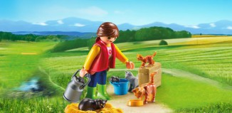 Playmobil - 6139 - Woman with Cat Family