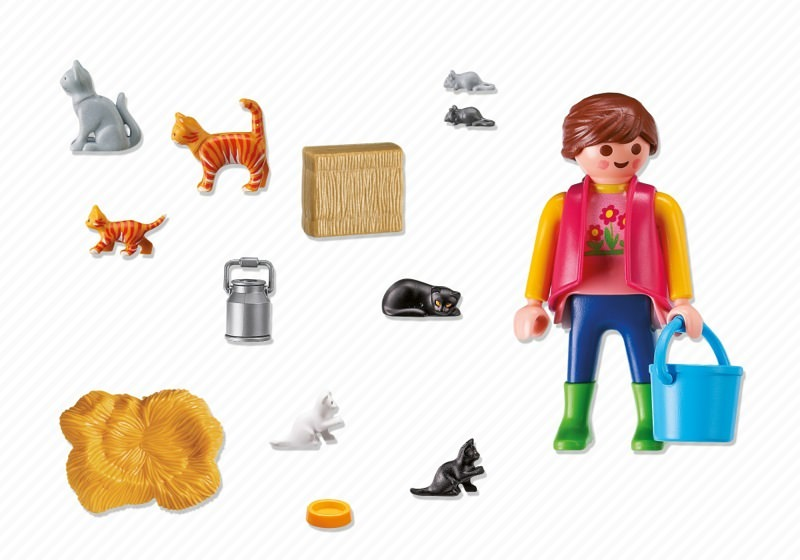 Playmobil 6139 - Woman with Cat Family - Back