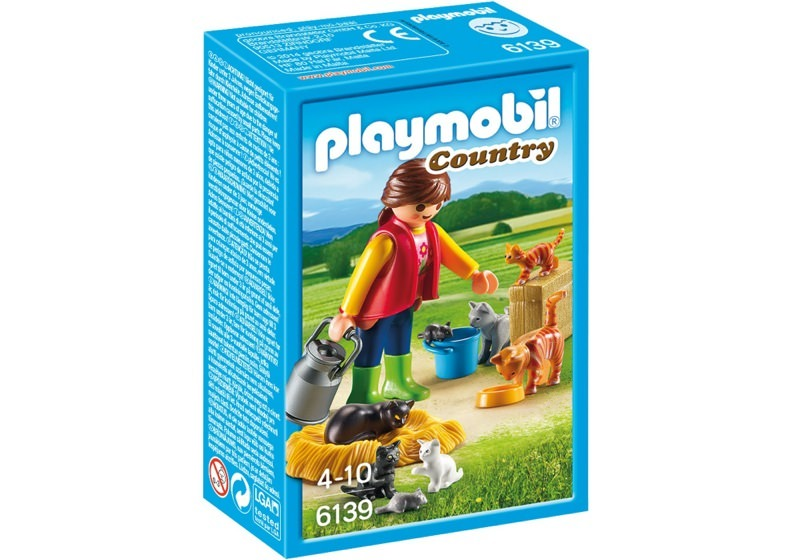 Playmobil 6139 - Woman with Cat Family - Box