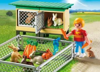 Playmobil - 6140 - Rabbit Pen with Hutch