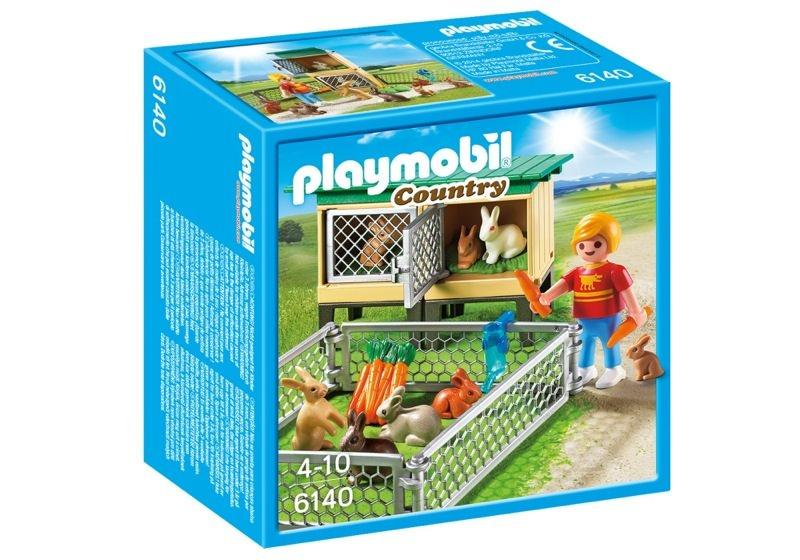 Playmobil 6140 - Rabbit Pen with Hutch - Box