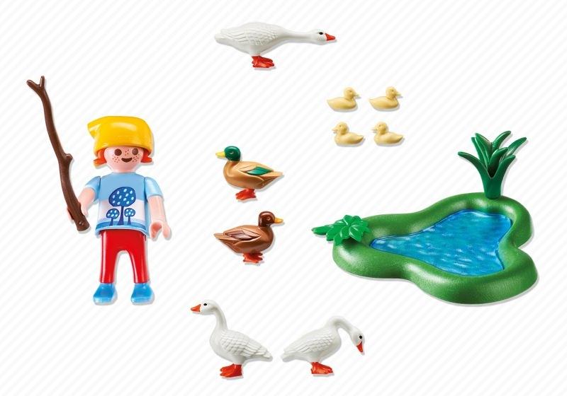 Playmobil 6141 - Enten und Gänse am Teich - Back