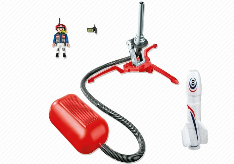 Playmobil 6187 - Rocket with Launch Booster - Back