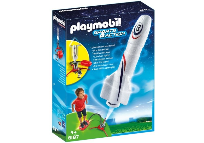Playmobil 6187 - Rocket with Launch Booster - Box