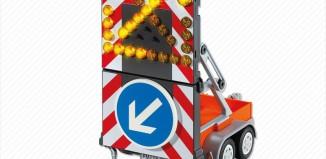 Playmobil - 6227 - Roadwork LED Signal on Trailer