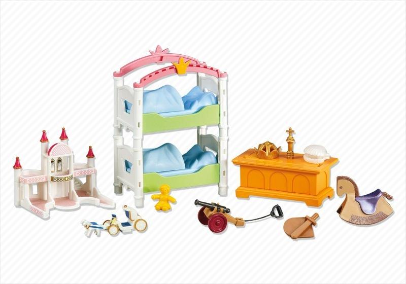 Playmobil set 6303 royal children 39 s room klickypedia for Salle a manger playmobil 5335