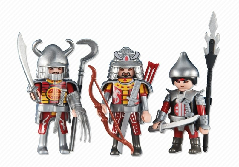 Playmobil set 6326 3 red asian knights klickypedia for Playmobil caballeros