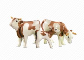 Playmobil - 6356 - 2 vacas alpinas con ternero