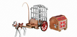 Playmobil - 6376 - horse cart with cage and trunk