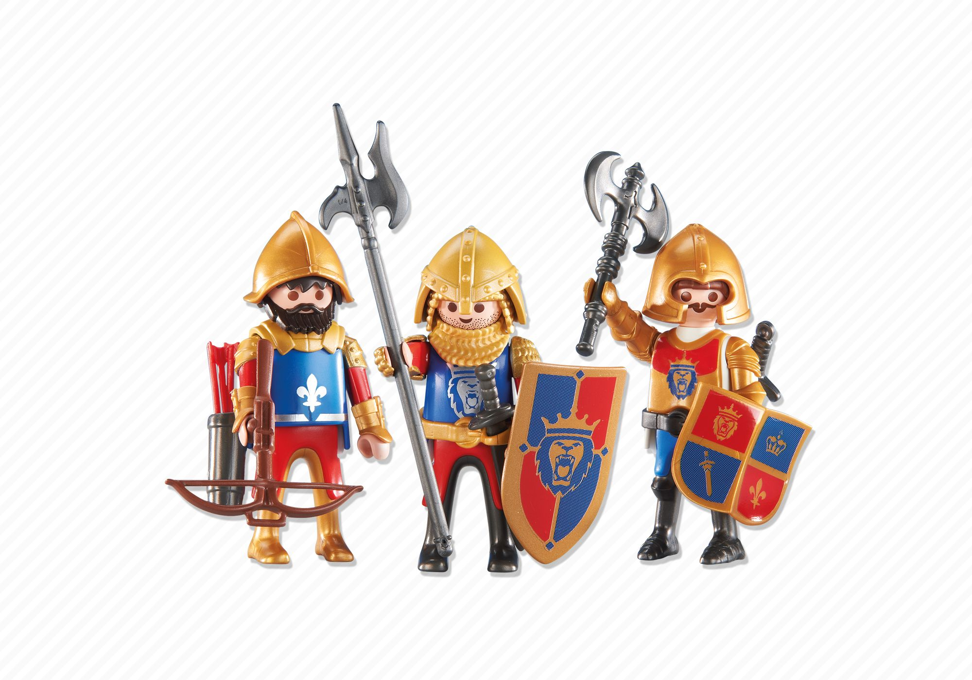 Playmobil set 6379 3 lion knights klickypedia for Playmobil caballeros
