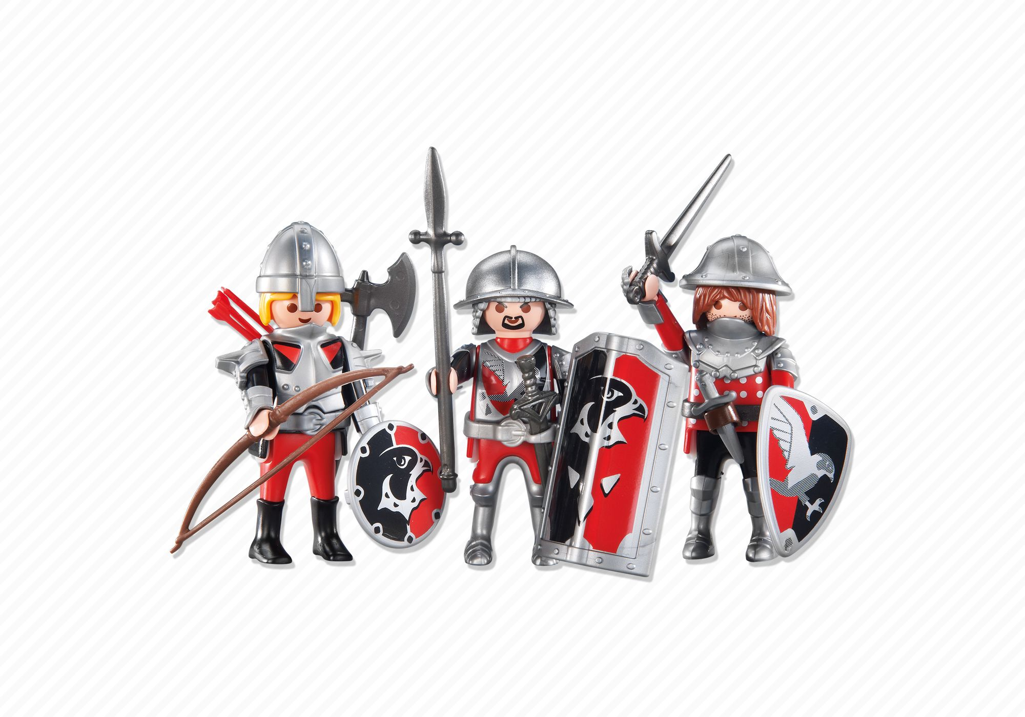 Playmobil set 6381 3 knights klickypedia for Playmobil caballeros