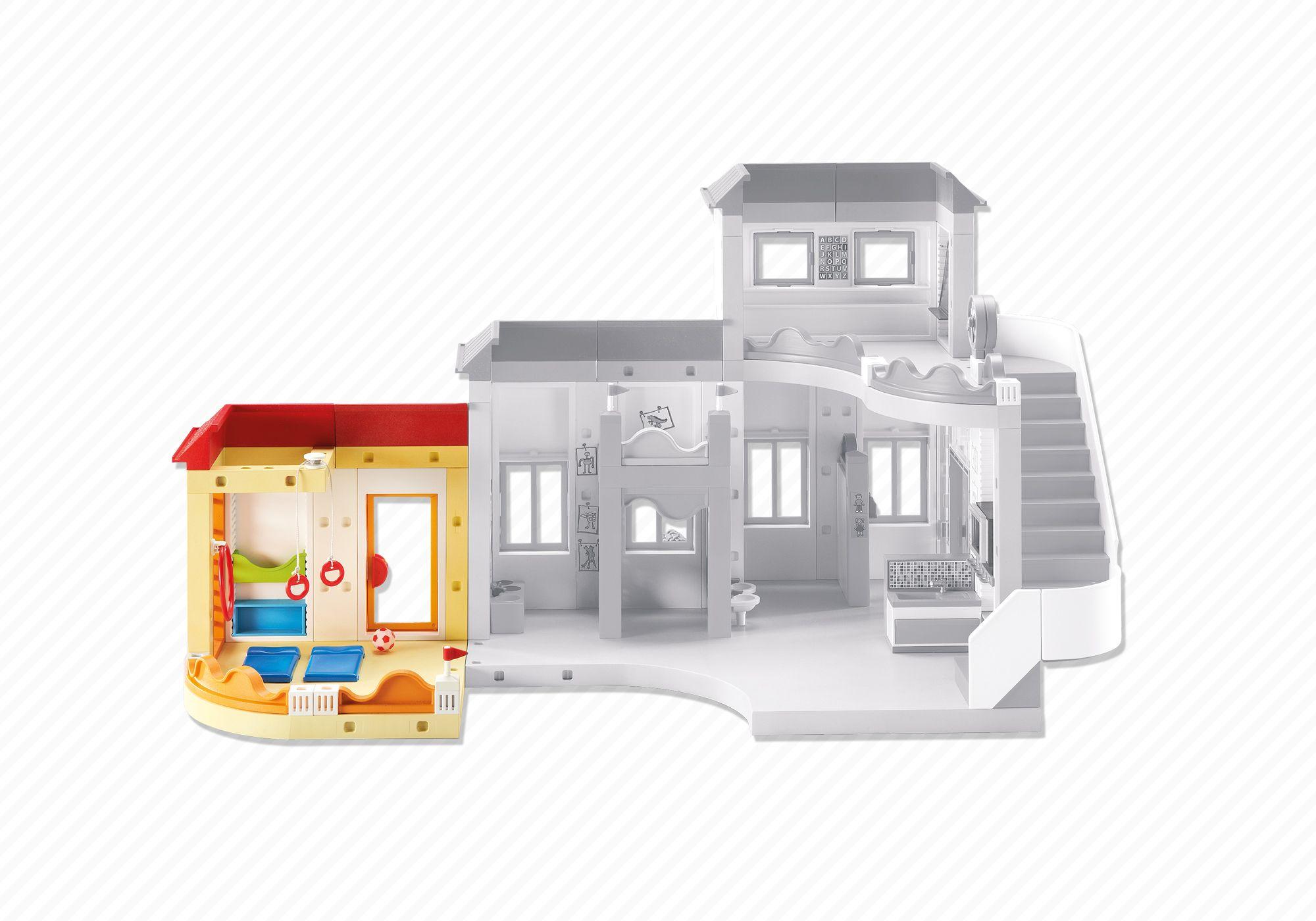 playmobil set 6386 anbau turnhalle f r die kita klickypedia. Black Bedroom Furniture Sets. Home Design Ideas