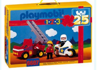 Playmobil - 6607 - Police And Fire Set
