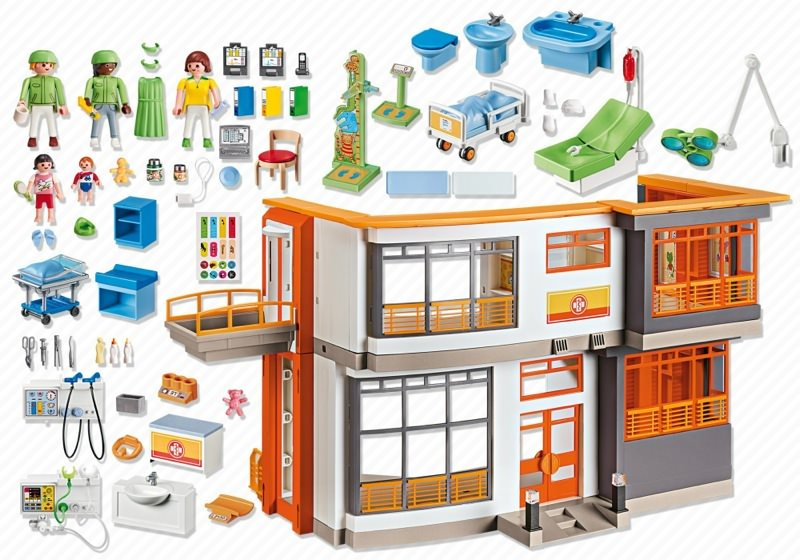 Playmobil 6657 - Children's Hospital - Back