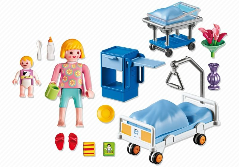 Playmobil 6660 - Maternity Room - Back