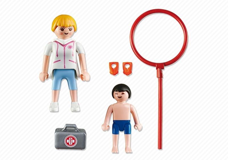 Playmobil 6677 - Schwimmmeisterin - Back