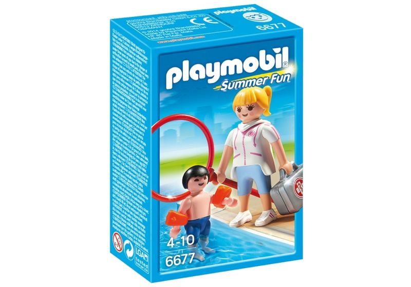 Playmobil 6677 - Schwimmmeisterin - Box
